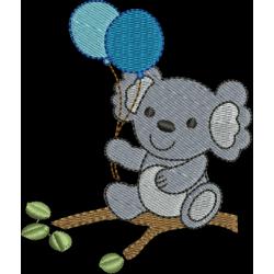 Coala com balões
