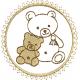 Urso com circulo