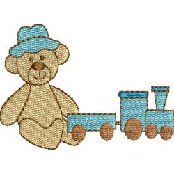 Urso com trem