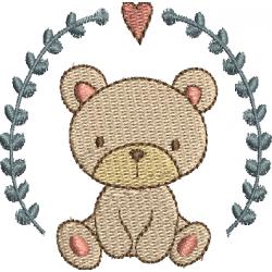 Urso com ramos e coração