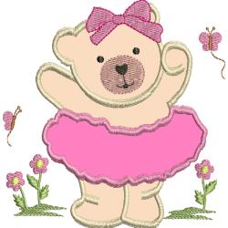 Ursa com saia em aplique