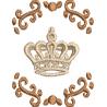 Coroa com arabescos