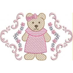 Ursa moldura floral