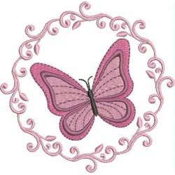 Moldura Borboleta rosa
