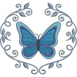 Moldura Borboleta Azul