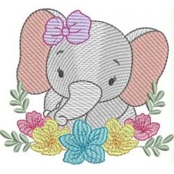 Elefante floral