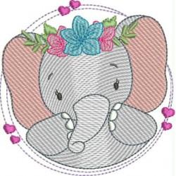 Elefante Coração Lilás