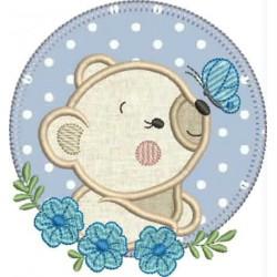 Urso Flor Azul