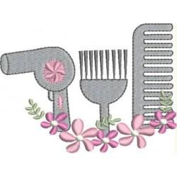 Secador de Cabelo Floral