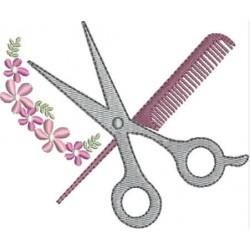 Tessoura cabelo floral