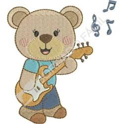 Urso Músico Guitarra