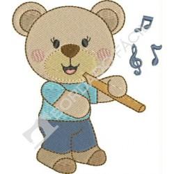 Urso Músico Flauta