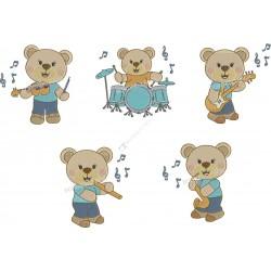 Pacote Ursos Músicos