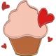 CupCake Corações