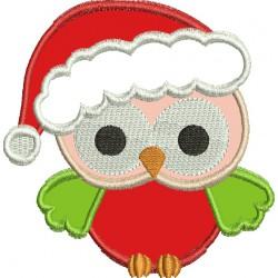 Coruja com gorro de Natal