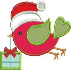 Pássaro com gorro de Natal