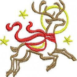 Rena de Natal com chale