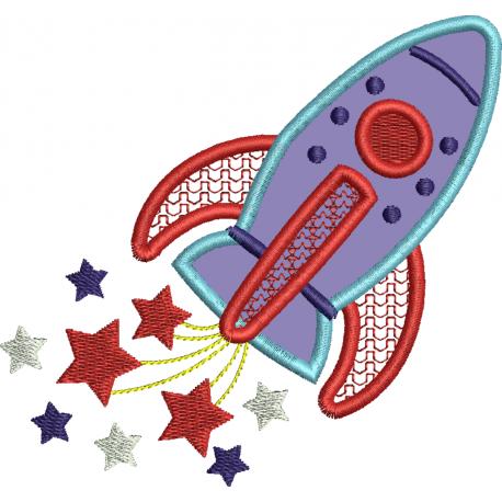 Avião com estrelas