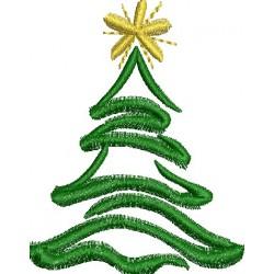 Árvore de natal estrela dourada