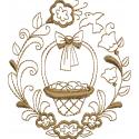 Cesta de Páscoa com ornamentos