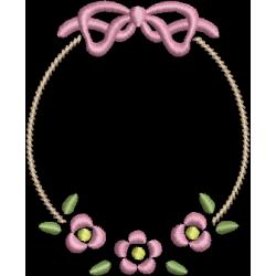 Moldura Flores delicadas
