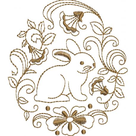 Coelho com Ornamento
