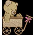 Urso no carrinho