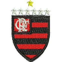 Escudo Flamengo com estrelas