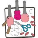 Kit Manicure - Aplique Rústico