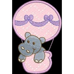 Hipopótamo no balão