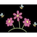 Flores com abelhas