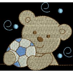 Urso com bola futebol