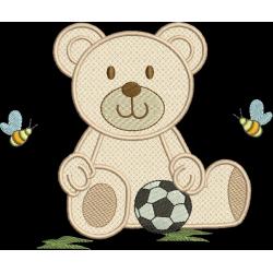 Urso Aplique com bola 01