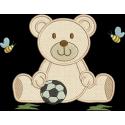 Urso Aplique com  Bola 02