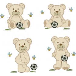 Pacote Urso Aplique com Bola