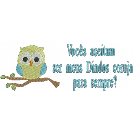 Convite Padrinhos Coruja