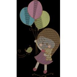 Menina com balão