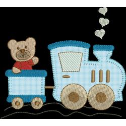 Trem com urso aplique