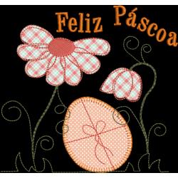 Ovo Páscoa com Flores