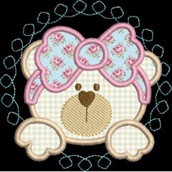 Ursa laço Aplique